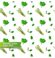 Seamless pattern with slices of vegetables Celery vector image vector image
