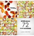 set of autumn backgrounds vector image