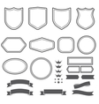 Set of elements ribbons and emblem forms for vector image vector image