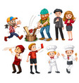 set people with different job vector image