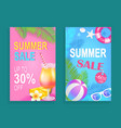 summer sale reduction set vector image vector image