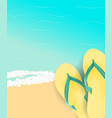 summer time background sunny beach vector image vector image