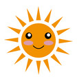 sun character ecology symbol icon vector image