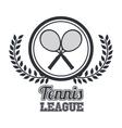 tennis league design vector image vector image