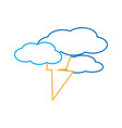 thunder and clouds icon vector image vector image
