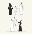 traditional arab family muslim culture man vector image