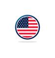 usa flag circle logo vector image