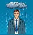 guy with bad mood pop art vector image