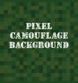 pixel camouflage background vector image