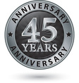 45 years anniversary silver label