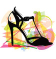 abstract drawing of high heel female shoes vector image vector image
