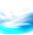 abstract smooth blue flow background for nature vector image vector image