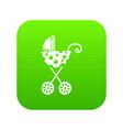 baby carriage elegant icon green vector image vector image