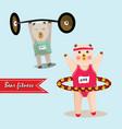 bear cartoon fitness vector image