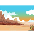 beauty desert with landscape background vector image vector image