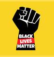 black lives matter protest vector image
