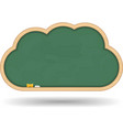 Blackboard Cloud vector image vector image