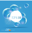 Bubbles on a blue background vector | Price: 1 Credit (USD $1)