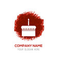 cake icon - red watercolor circle splash vector image vector image