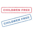 children free textile stamps vector image vector image