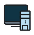 computer flat icon vector image vector image