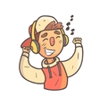 Dancing Boy In Cap And College Jacket Hand Drawn vector image vector image