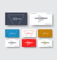 design of a business card in a minimalist style vector image vector image