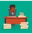 Despair businessman working in office vector image vector image