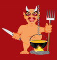 devil in hell vector image vector image