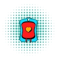 donate blood icon comics style vector image vector image