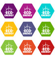 eco energy icons set 9 vector image vector image
