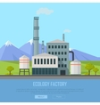 Ecology Factory Banner vector image vector image