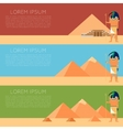 egypt thoth banner vector image vector image