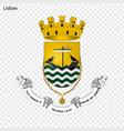 emblem of lisbon city of portugal vector image