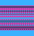 ethnic seamless pattern violet and blue color vector image