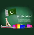 flag of pakistan on black chalkboard background vector image vector image