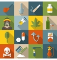 Flat Drugs Icon Set vector image vector image