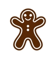 flat icon with long shadow Christmas honey-cake vector image vector image