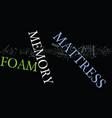 foam mattress memory text background word cloud vector image vector image