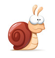 funny cute snail shadowand reflect vector image vector image