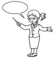 Funny teacher Coloring book vector image vector image