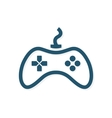 game controller logo template joystick icon vector image
