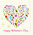 greeting lovely background vector image vector image