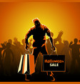 Halloween sale poster vector image