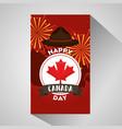 happy canada day vector image