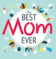 happy mothers day layout greeting card design vector image vector image