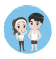 male and female are athlete good healthy vector image