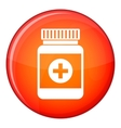 Medicine bottle icon flat style vector image vector image