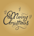 merry christmas hand lettering festive vector image vector image