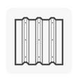 metal sheet icon vector image